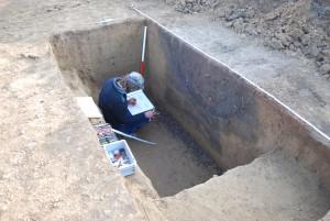 ArchDienst bei einer archäologischen Ausgrabung